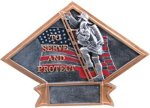 Firefighter Diamond Plate Resin All Trophy Awards