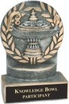 Lamp of Knowledge - Wreath Resin Trophy All Trophy Awards