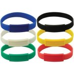 Silicone Wristband W/ Narrow Emblematic Patch Misc. Gift Awards