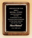 American Walnut Plaque with Antique Bronze Frame Sales Awards