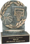 Basketball - Wreath Resin Trophy Wreath Resin Trophies
